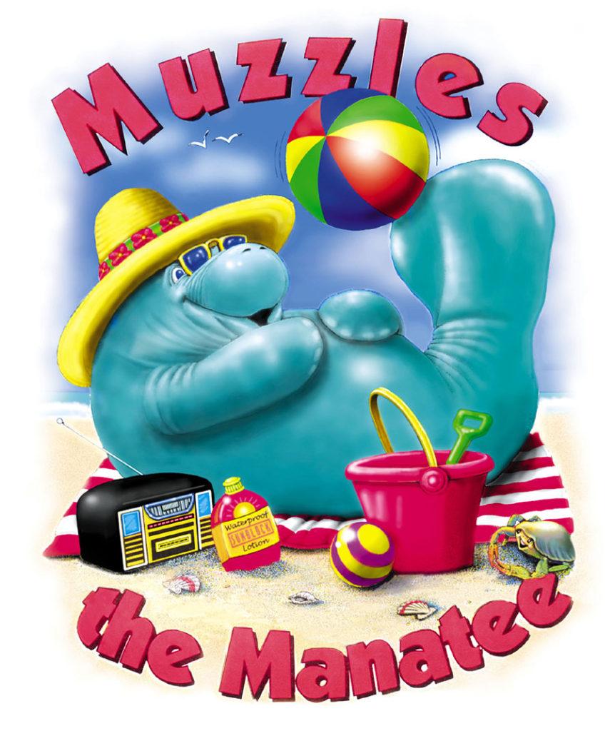 Muzzles on beach